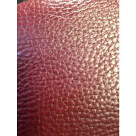 Crimson split printed leather